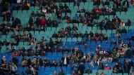 Beim Testspiel der Deutschen in Leipzig blieben einige Plätze frei.