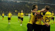 Dortmunder-Jubel nach dem Spiel gegen Frankfurt in der Bundesliga