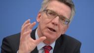 """""""Wir stehen am Scheideweg"""": Thomas de Maiziere"""