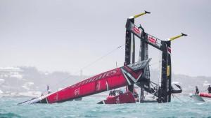 Team Neuseeland spektakulär gekentert