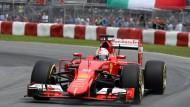 Von ganz hinten fast noch auf das Podest: Sebastian Vettel wird Fünfter