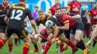 Entwicklungshelfer Jacobus Otto (Mitte): Der Typus Rugbyspieler ist keine ängstliche Natur, ganz im Gegenteil.