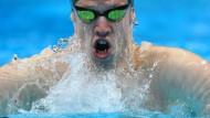 Mund ziemlich voll genommen: Schwimmer Heintz