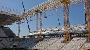 Arbeiten am WM-Eröffnungsstadion unterbrochen