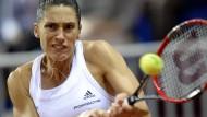 Oft nur mit Schmerzmitteln am Ball: Andrea Petkovic