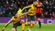 Furiose Aufholjagd von Arsenal ohne Özil