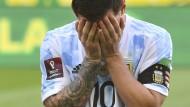 Lionel Messi will beim Eklat beim Duell Brasilien gegen Argentinien gar nicht mehr hinsehen.
