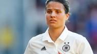 Dzsenifer Marozsán und die deutschen Fußballfrauen wollen eine erfolgreiche WM in Frankreich spielen.