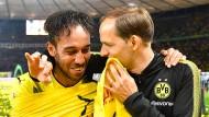War das Finale von Berlin der Dortmunder Abschieds von Torjäger Aubameyang (links) und Trainer Tuchel?