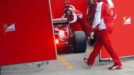 Viel Geheimniskrämerei: Der neue Ferrari von Sebastian Vettel