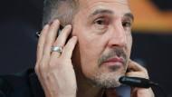 """""""Für mich ist Benfica nach dem Ergebnis des ersten Spiels 55:45-Favorit"""": Eintracht-Trainer Adi Hütter"""