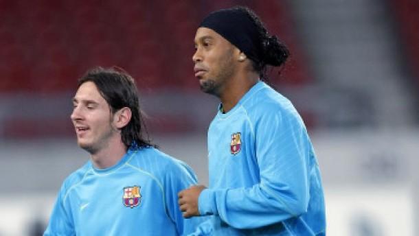 Ronaldinho in Messis Schatten zum Hinterbänkler