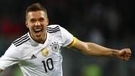 Podolski sagt mit einem Knaller Tschö