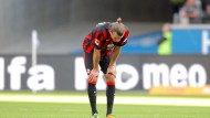 Enttäuschung pur: Alexander Meier nach der Niederlage gegen Augsburg