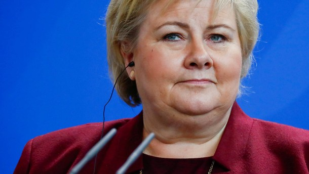 Norwegens Ministerpräsidentin vertwittert sich