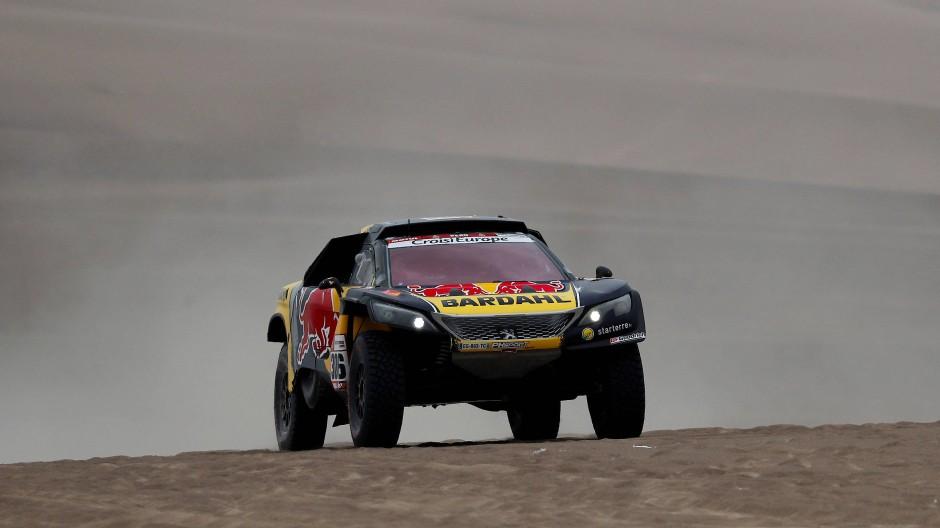 Schnell unterwegs auf schwierigem Untergrund: Sébastien Loeb sicherte sich zum vierten Mal den Tagessieg bei der Rallye Dakar.