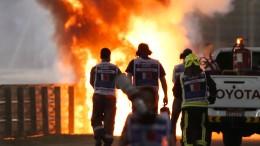 """Verunglückter Grosjean will """"unbedingt"""" wieder ans Steuer"""