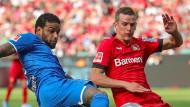 Leverkusen und Hoffenheim mühten sich nach Kräften, trafen das Tor aber nicht.