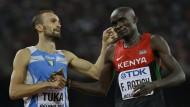 Die Doping-Probe in Rio stammte nicht von 800-Meter-Läufers Ferguson Rotich (Bild von 2015, rechts).