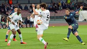Wolfsburg verpasst das Wunder in Neapel