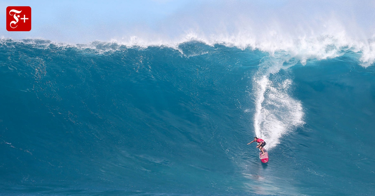 Wellen vor hawaii big wave