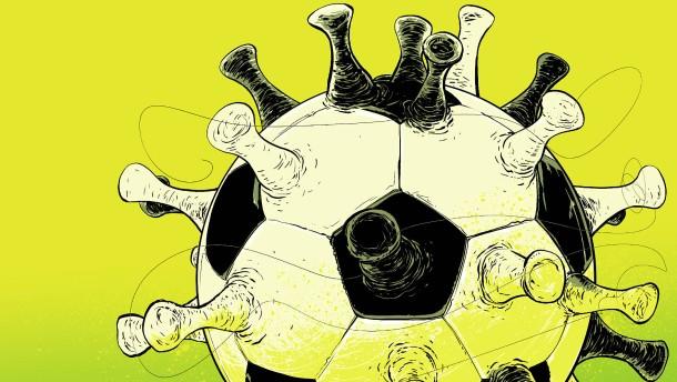 Der Fußball und das Spiel mit dem Virus