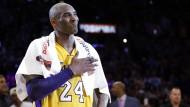 Zeit für den Abschied: Basketball-Star Kobe Bryant beendet seine Karriere.