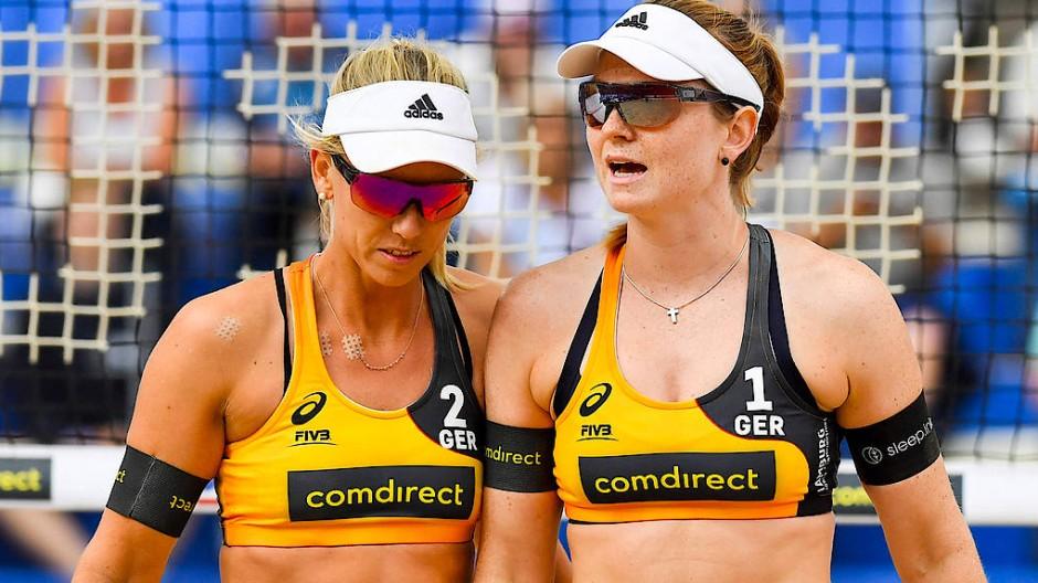 Dürften im Bikini in Qatar spielen, wenn sie denn wollen würden: Karla Borger (links) und Julia Sude