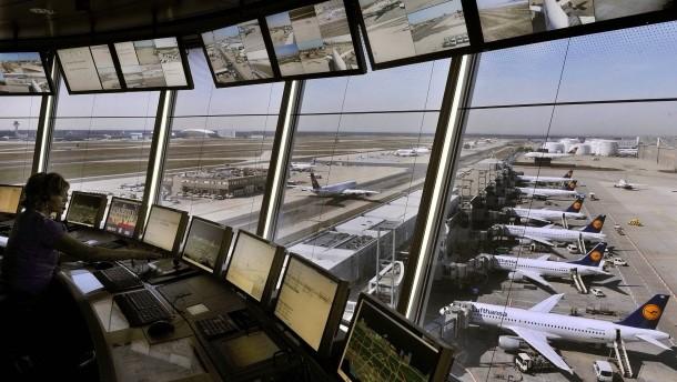 Die Fluglotsen wollen am Mittwoch von 5 bis 11 Uhr streiken
