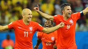 Holland setzt auf Robben und van Persie