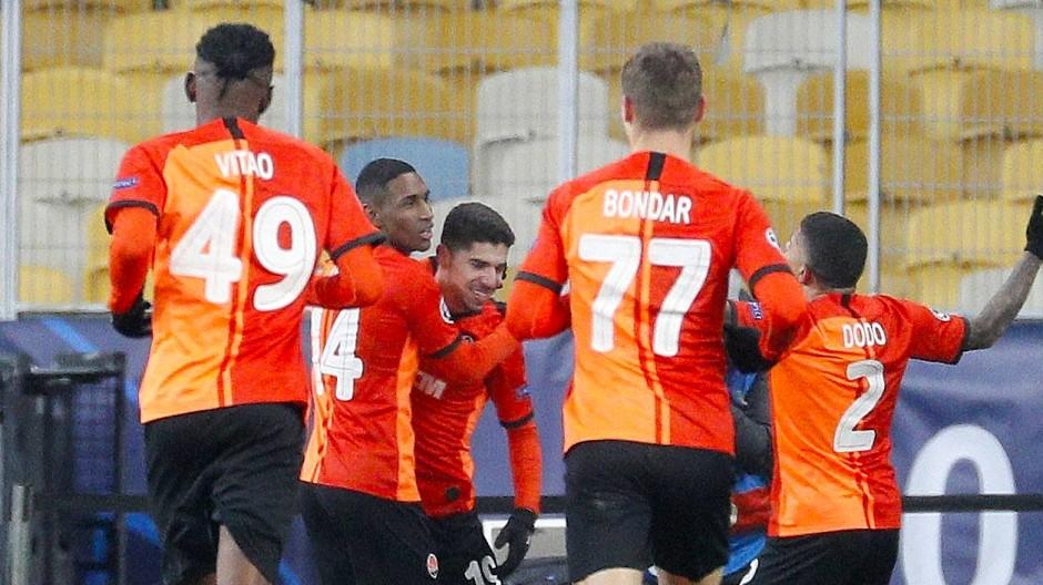 Donezk feiert den Erfolg gegen Madrid