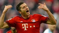 Lewandowski erweckt die Lebensgeister der Bayern in der zweiten Hälfte.