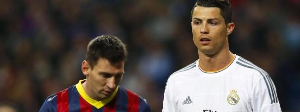 Zwei Stars, die kaum verletzt sind: Lionel Messi (links) vom FC Barcelona und Real Madrids Cristiano Ronaldo
