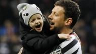 Marco Russ bejubelte sein Comeback mit seiner Tochter