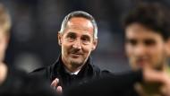 """Eintracht Trainer Adi Hütter dämpft die Erwartungen: """"Keiner kann von uns erwarten, wieder bis ins Halbfinale zu kommen."""""""