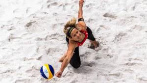 Findungsprozess auf Sand