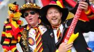 Die Stimmung bei den bunten deutschen Fans war bestens vor der Partie.