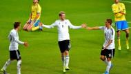 Leichtfüßig ins WM-Rennen: Schürrle (Mitte) trifft drei Mal für die Deutschen