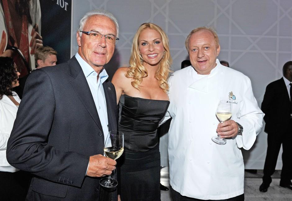 Mit Franz Beckenbauer und Sonya Kraus