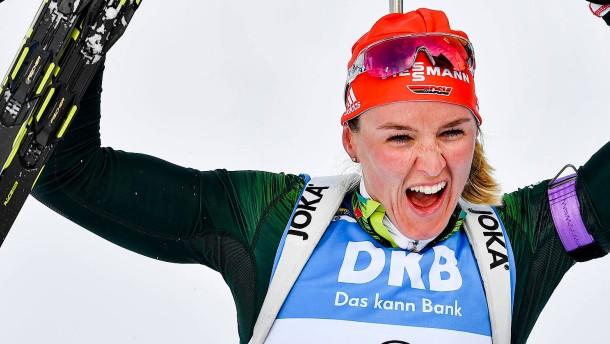 Die Lückenfüllerin nach Laura Dahlmeier