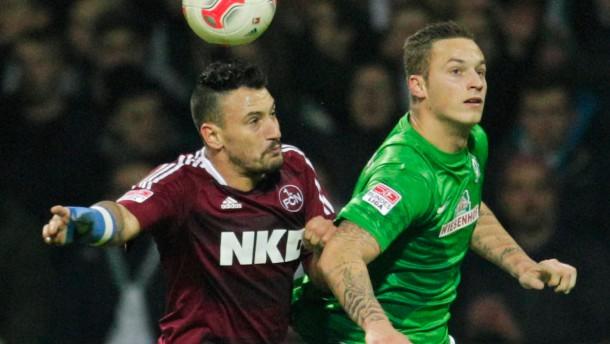 Duell auf Augenhöhe: Bremen und Nürnberg trennen sich 1:1