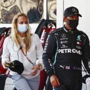 Enttäuscht nach Platz drei: Lewis Hamilton (rechts) nach dem Rennen.