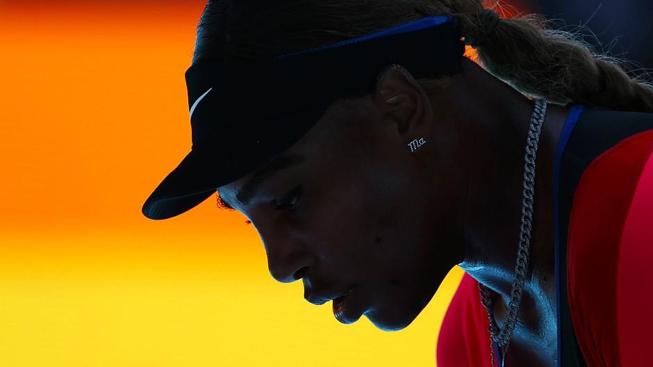 """Emotional: Serena Williams Satz """"Ich bin fertig"""" nach dem Halbfinalspiel lässt Raum für Spekulationen."""