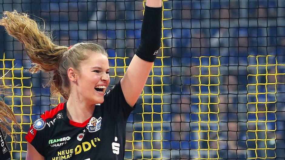 Setzt den Schlusspunkt beim vierten Spiel: Camilla Weitzel