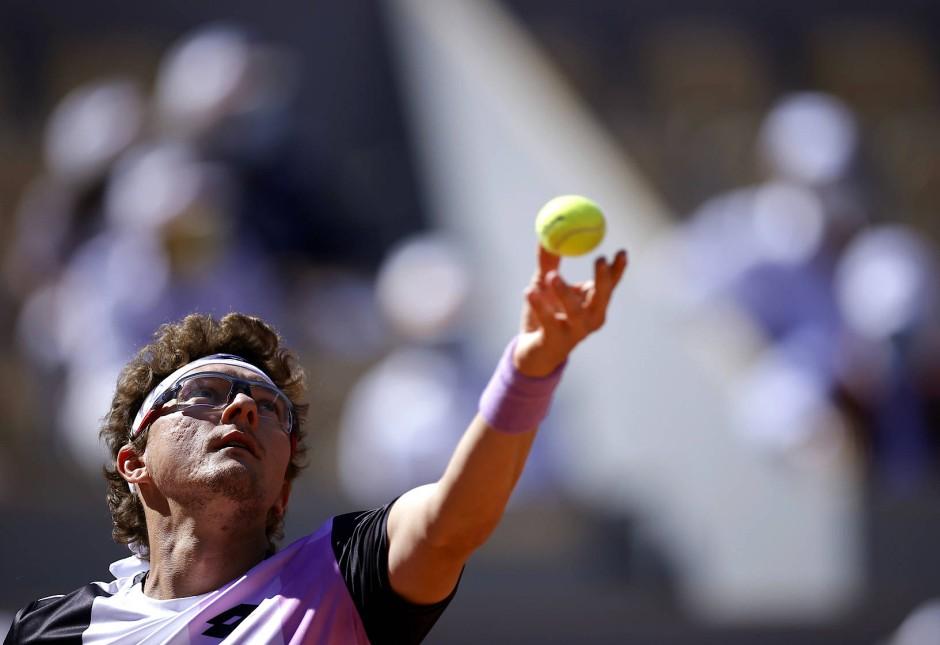 Kein echter Prüfstein für Federer: Der Usbeke Denis Istomin war klar unterlegen.