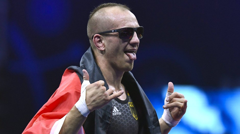 Seit Jahren ungeschlagen: Deutschlands Vorzeigeringer Frank Stäbler freut sich über 50 gewonnene Kämpfe in Serie.