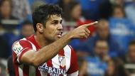 Hauptrolle als Serienknipser: Diego Costa hat acht Tore in sieben Spielen für Atletico Madrid geschossen