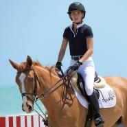Erfolgreich auf dem Pferd: Jessica Springsteen