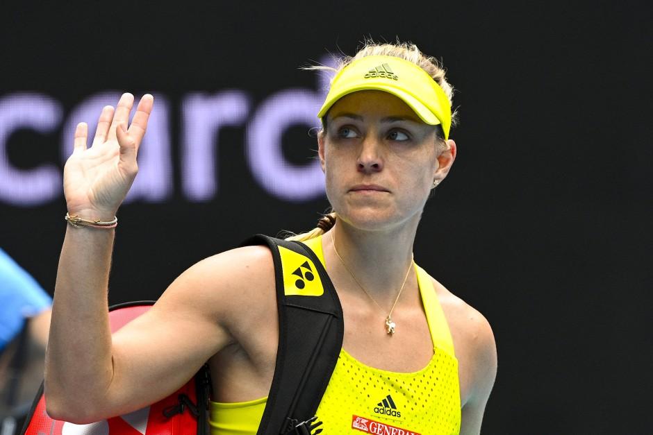 Muss sich verabschieden wie schon hier bei den Australian Open: Angelique Kerber ist in Qatar ausgeschieden.