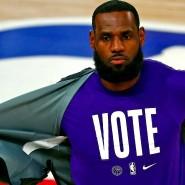 Vote! Geht wählen! LeBron James transportiert seine Botschaften.